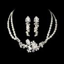 Elegance by Carbonneau NE8238-SilverPearl Silver Freshwater Pearl Jewelry Set NE 8238