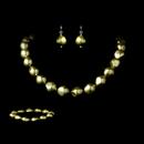 Elegance by Carbonneau NEB-8325-Green Necklace Earring Bracelet Set 8325 Green