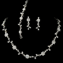 Elegance by Carbonneau NEb385 Crystal Floral Vine 3 Piece Bridal Jewelry Set NEB 385