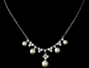 Elegance by Carbonneau N-2615-Silver-Pearl Shimmering Silver Freshwater Pearl CZ Necklace N 2615