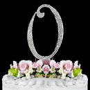 Elegance by Carbonneau O-Completely-Covered Completely Covered ~ Swarovski Crystal Wedding Cake Topper ~ Letter O