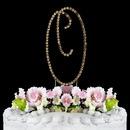 Elegance by Carbonneau O-Renaissance-Gold Renaissance ~ Swarovski Crystal Wedding Cake Topper ~ Gold Letter O