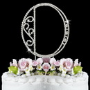 Elegance by Carbonneau O-Roman Romanesque ~ Swarovski Crystal Wedding Cake Topper ~ Letter O