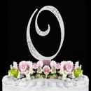 Elegance by Carbonneau O-Sparkle-Silver Sparkle ~ Swarovski Crystal Wedding Cake Topper ~ Silver Letter O