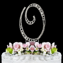 Elegance by Carbonneau O-Vintage Vintage ~ Swarovski Crystal Wedding Cake Topper ~ Letter O