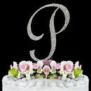 Elegance by Carbonneau P-Completely-Covered Completely Covered ~ Swarovski Crystal Wedding Cake Topper ~ Letter P