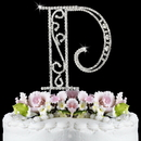 Elegance by Carbonneau P-Roman Romanesque ~ Swarovski Crystal Wedding Cake Topper ~ Letter P