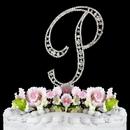 Elegance by Carbonneau P-Vintage Vintage ~ Swarovski Crystal Wedding Cake Topper ~ Letter P