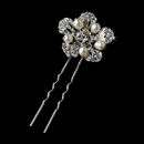 Elegance by Carbonneau Pin-1125 Silver Clear Pin 1125