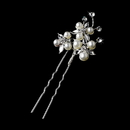 Elegance by Carbonneau Pin-1126 Silver Ivory Clear Pin 1126