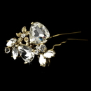 Elegance by Carbonneau Pin95G Gold Plated Bridal Hair Pin 95