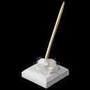 Elegance by Carbonneau PS-804-IV Ivory Flower Pen Set 804