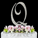 Elegance by Carbonneau Q-Completely-Covered Completely Covered ~ Swarovski Crystal Wedding Cake Topper ~ Letter Q