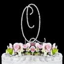 Elegance by Carbonneau Q-Renaissance-Silver Renaissance ~ Swarovski Crystal Wedding Cake Topper ~ Silver Letter Q