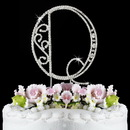 Elegance by Carbonneau Q-Roman Romanesque ~ Swarovski Crystal Wedding Cake Topper ~ Letter Q