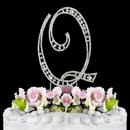 Elegance by Carbonneau Q-Vintage Vintage ~ Swarovski Crystal Wedding Cake Topper ~ Letter Q