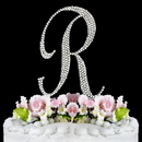 Elegance by Carbonneau R-Completely-Covered Completely Covered ~ Swarovski Crystal Wedding Cake Topper ~ Letter R