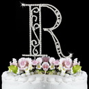 Elegance by Carbonneau R-Roman Romanesque ~ Swarovski Crystal Wedding Cake Topper ~ Letter R