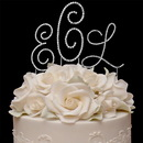 Elegance by Carbonneau renaissancemonogram3letterset Renaissance ~ Monogram Wedding Cake Top Set