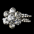Elegance by Carbonneau Ring-17-AS-Clear Antique Silver Clear Rhinestone Flower Ring 17