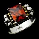 Elegance by Carbonneau Ring-2891-Burgundy Brilliant Designer Inspired Silver Emerald Cut Burgandy CZ Ring 2891