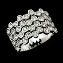 Elegance by Carbonneau Ring-3603 Alluring Silver Clear Crystal Band Ring 3603