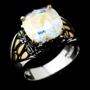 Elegance by Carbonneau Ring-4115-AB Beautiful Designer Inspired Silver Aurora Borealis CZ Ring 4115
