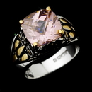 Elegance by Carbonneau Ring-4115-Pink Beautiful Designer Inspired Silver Pink CZ Ring 4115