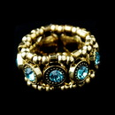 Elegance by Carbonneau Ring-464-Aqua Gold Aqua Stretch Ring 464