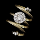 Elegance by Carbonneau Ring-55-G-Clear Charming Coil Gold Clear Ring 55