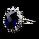 Elegance by Carbonneau ring-5691-sapphire Royal Princess Kate Middleton Inspired Sapphire CZ Ring 5691