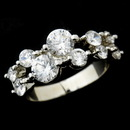 Elegance by Carbonneau Ring-9046 Radiant Silver Clear Round CZ Ring 9046