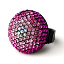 Elegance by Carbonneau Ring-951-Pink Pink Mix Pave Ball Ring 951