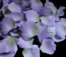 Elegance by Carbonneau Rose-Petals-Lavendar-Green-52 Lavender Two-Tone with Green Accent Rose Petals (100 Count) #52