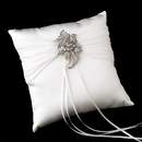 Elegance by Carbonneau RP-11-Brooch-16-A-Clear Ring Pillow 11 with Antique Clear Floral Brooch 16