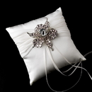 Elegance by Carbonneau RP-11-Brooch-82-S-Lt-Pink Ring Pillow 11 with Silver Clear Light Pink Flower Brooch 82