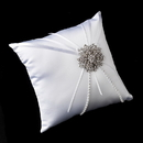 Elegance by Carbonneau RP-16-Brooch-15-S-Clear Ring Pillow 16 with Silver Clear Floral Starfish Brooch 15
