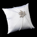 Elegance by Carbonneau RP-16-Brooch-67-S-Clear Ring Pillow 16 with Silver Clear Crystal Flower Brooch 67