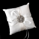 Elegance by Carbonneau RP-17-Brooch-15-S-Clear Ring Pillow 17 with Silver Clear Floral Starfish Brooch 15