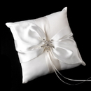 Elegance by Carbonneau RP-17-Brooch-30326-S-Clear Ring Pillow 17 with Silver Clear Winter Snowflake Brooch 30326