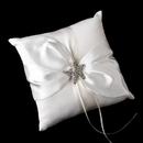 Elegance by Carbonneau RP-17-Brooch-93-S-Clear Ring Pillow 17 with Silver Clear Crystal Starfish Brooch 93