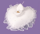 Elegance by Carbonneau RP-422 Heart Bridal Ring Bearer Pillow with Ring Box RP 422