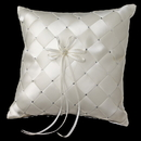 Elegance by Carbonneau RP-786-IV Hand Woven Ring Pillow 786