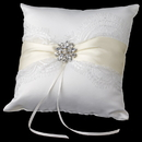 Elegance by Carbonneau RP-848 Ribbon & Brooch Ring Pillow 848