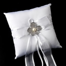 Elegance by Carbonneau RP-90-Brooch-66-S-Ivory Ring Pillow 90 with Silver Ivory Pearl & Rhinestone Flower Brooch 66