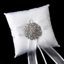 Elegance by Carbonneau RP-90-Brooch-79-S-AB Ring Pillow 90 with Silver Clear AB Swirl Rhinestone Brooch 79