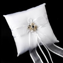 Elegance by Carbonneau RP-90-Brooch-8707 Ring Pillow 90 with Rhinestone Flower Brooch 8707