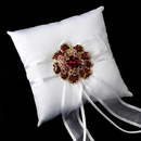 Elegance by Carbonneau RP-90-Brooch-8779 Ring Pillow 90 with Crystal & Rhinestone Floral Brooch 8779
