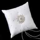 Elegance by Carbonneau RP-92-Brooch-3171-S-Clear Ring Pillow 92 with Silver Clear Round Brooch 3171
