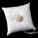 Elegance by Carbonneau RP-92-Brooch-31 Ring Pillow 92 with Floral Cluster Pearl Brooch 31